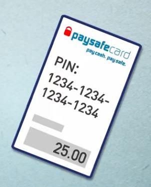 paysafecard voucher