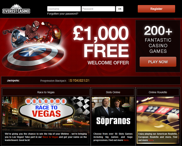 everest casino no deposit bonus